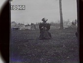 view [Miscellaneous Images in Virginia]: an unidentified woman looking down at the camera. digital asset: [Miscellaneous Images in Virginia] [nitrate negative]: an unidentified woman looking down at the camera.