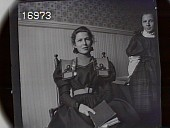 view [Miscellaneous Images in Virginia]: two unidentified girls, one sitting and one standing, in a bathroom. digital asset: [Miscellaneous Images in Virginia] [nitrate negative]: two unidentified girls, one sitting and one standing, in a bathroom.