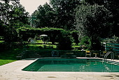 view [Homewood]: a view from the swimming pool circa 1950. digital asset: [Homewood]: a view from the swimming pool circa 1950.: [ca. 1950]