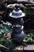 view [Glebelands]: Japanese lantern in secret garden. digital asset: [Glebelands]: Japanese lantern in secret garden.: 1997.