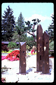 """view Pampas Point: Sculpture """"The Ketchum Columns"""". digital asset: Pampas Point: Sculpture """"The Ketchum Columns"""".: 1994 May."""