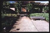 view [Hofius Garden, Sequim, Washington]: the main entrance of the house. digital asset: [Hofius Garden, Sequim, Washington]: the main entrance of the house.: 1999 Mar.