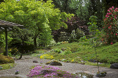 view [Chase Garden]: edge of house, showing spring colors and entrance garden on west side of house. digital asset: [Chase Garden]: edge of house, showing spring colors and entrance garden on west side of house.: 2004 May.