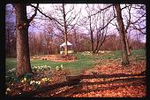 view [Christopher Place]: vista toward gazebo, spring. digital asset: [Christopher Place]: vista toward gazebo, spring.: 1997 May.