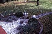 view [Tatterdemalion]: an overhead view of the cut stone semi-circular terrace. digital asset: [Tatterdemalion]: an overhead view of the cut stone semi-circular terrace.: 1998 Oct.