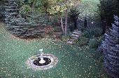 view [Tatterdemalion]: the semi-circulaar shrub border garden. digital asset: [Tatterdemalion]: the semi-circulaar shrub border garden.: 1998 Oct.