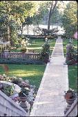 view [Birchwood]: upper terrace facing lake. digital asset: [Birchwood]: upper terrace facing lake.: 1998.