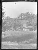 view [Unidentified Garden]: meadows, street trees and house. digital asset: [Unidentified Garden]: meadows, street trees and house.: [1920?]