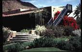 view Benton House: garden view, looking Northeast, stairway to overlook digital asset: Benton House: garden view, looking Northeast, stairway to overlook: 1995 Apr. 1