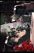 view Benton House: courtyard plantings, viewed from stairwell. digital asset: Benton House: courtyard plantings, viewed from stairwell.: 1995 Apr. 1