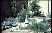 view Benton House: herb garden with copper cupola. digital asset: Benton House: herb garden with copper cupola.: 1995 Apr. 1