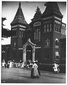 view Visitors in Front of the U. S. National Museum at the Turn of Century digital asset number 1