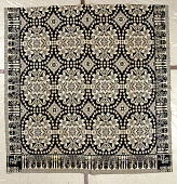 view Figured and Fancy coverlet; double-cloth; 1830; New York digital asset number 1
