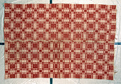 view Clarrisa Champion Smith and Charity Vosburgh Mihan; Overshot coverlet; 1830-1840; Chatham, New York digital asset number 1