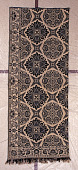 """view LaTourette family; """"Star and Rose"""" Jacquard coverlet panel; Indiana; 1850 digital asset number 1"""
