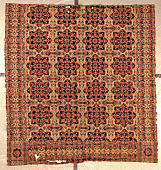 view Auburn State Prison jacquard-woven double-cloth coverlet; 1838; New York digital asset number 1