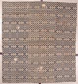 "view Martha Mildred Mills Vaughn; ""Sixteen Patch,"" coverlet; overshot; c. 1830-1838; Georgia digital asset number 1"