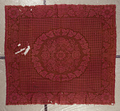 view Lancaster Carpet, Coverlet, Quilt, and Yarn Manufactory; coverlet; Jacquard, double cloth; c. 1856-1880; Pennsylvania digital asset number 1
