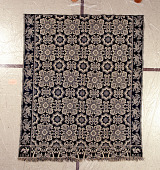 view Matthew Rattray; coverlet; Jacquard, double-cloth; 1853; Indiana digital asset number 1