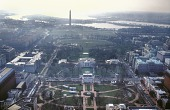 view William J. Clinton Presidential Inauguration, aerial view of White House, 1993 digital asset number 1