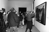 view Docent at American Art Exhibit digital asset number 1