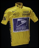 view Yellow Jersey worn by Lance Armstrong in the 2002 Tour de France digital asset number 1