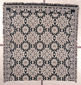 view coverlet; Figured and Fancy, double-cloth; 1839; New York digital asset number 1