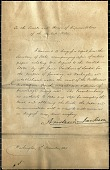 view Andrew Jackson's Letter to Congress Regarding the Smithson Bequest digital asset number 1