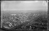 view Panoramic View from top of Washington Monument digital asset: Positive image from a glass plate negative by Walter J. Hussey, Panoramic view from top of Washington Monument - Washington DC