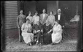 view Family digital asset: Positive image from a glass plate negative by Walter J. Hussey, Family