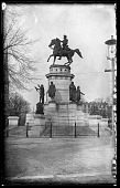 view Equestrian Statue of General George Washington digital asset: Positive image from a glass plate negative by Walter J. Hussey, Equestrian Statue of General George Washington