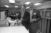 view Stan Kovy and Honeywell Man Cut the Ribbon at Dedication of Honeywell 2015 Computer digital asset number 1