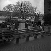 view Erection of Andrew Jackson Downing Memorial Urn digital asset number 1