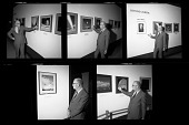 """view Arthur C. Clarke with Paintings by Chesley Bonestell in """"Beyond Jupiter"""" Exhibition digital asset number 1"""