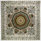 "view 1825 - 1835 Betsy Totten's ""Rising Sun"" Quilt digital asset: Mary Totten's 'Rising Sun' Quilt"