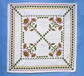 "view 1850 - 1875 ""Irish Chain"" Quilt digital asset: Irish Chain Quilt"