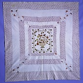 view 1822 Margret Nolan's Embroidered Quilt digital asset: Margaret Nowlan's Embroidered Quilt