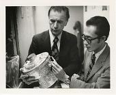 view Eugene Knez and Tashi Densapa Examine Artifacts digital asset number 1