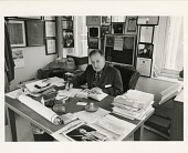 view Paul Garber at his Desk in the Arts and Industries Building digital asset number 1