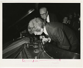 view Henry Steinway and Van Cliburn Inspect Paderewski Piano digital asset number 1