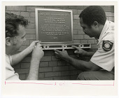 view Installation of National Historic Landmark Plaque at Arts and Industries Building digital asset number 1