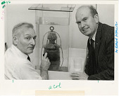 view Robert M. Organ and Philip Lundeburg with Red Lantern from U.S.S. Monitor digital asset number 1