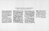 view Facsimile of James Smithson's Handwritten Will digital asset number 1