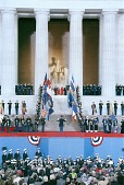 view 1989 George H. W. Bush Presidential Inauguration, Opening Ceremonies at Lincoln Memorial, January 1989 digital asset number 1
