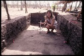 view Archeological Dig in Dried Up River Bed, with Archaeologist Richard Cooke, Panama, STRI digital asset number 1