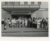 view Group Portrait of Anacostia Historical Society Members in Front of Anacostia Neighborhood Museum digital asset number 1