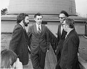 view SAO Scientists on Walkway of Harvard College Observatory's Fifteen Inch Reflector digital asset number 1