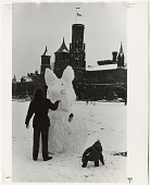 view Visitors Build Snow Rabbit on National Mall digital asset number 1