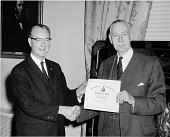 view Fred Whipple Awarded President's Award, 1962 digital asset number 1