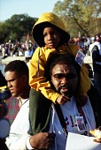 view Son on Father's Shoulders at Million Man March digital asset number 1